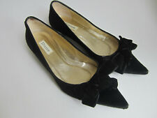 Dune black velvet effect low heels shoes with bows UK 3 / EU 36 / US 5