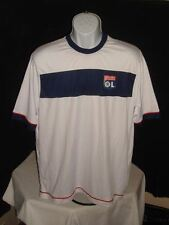 OFFICIAL PRODUCT FC OLYMPIQUE LYONNAIS MADE IN TURKEY WHITE POLY S/S T SHIRT XL