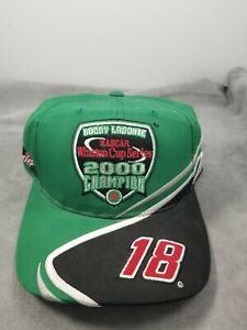 #18 Bobby Labonte Nascar Winston Cup 2000 Champion Hat Green Adjustable