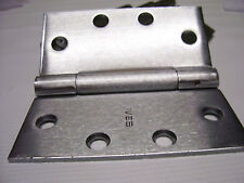"""Lot of 5 IVES Stainless Steel Ball Bearing 3 Knuckle Door Hinges GQ 4 1/2"""""""