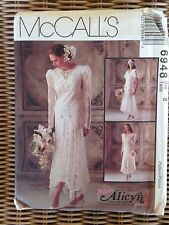 1994 McCalls Pattern 6948 Alicyn Exclusives Bridal Gown Bridesmaid Dress Size 8