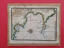 Plan ancien de la rade du Brusc et de celle de Bandol 1730 Michelot et Bremond