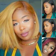 Women Ladies Short Bob Wigs Black Natural Straight Cosplay Full Hair Wig Fashion