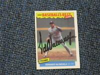 Fernando Valenzuela Autographed Baseball Card JSA Auc Certified 2