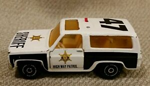 Special Edition Sheriff Highway Patrol Truck Action Fleet 1064 Chevy Blazer #47
