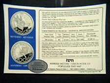 1987 PORTUGAL silver COIN 100 escudos UNC BU PROOF Navigator  Diogo Cao