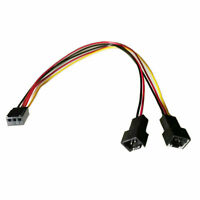 3-pin Female to Dual Male 5V / 12V PC Fan Power Splitter Y Adapter Cable / Cord