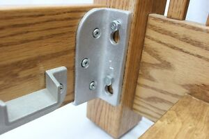 No Mortise Bed Rail Brackets / Fittings HeadBoard/FootBoard bed rail USA MADE