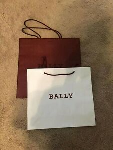 Bally Paper Gift Shopping Bag set- red and white