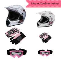 DOT Youth Helmet Child Kid Adult Pink Butterfly Dirt Bike ATV Motocross S M L XL