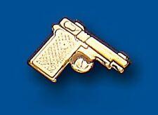 Men's Earring Pistol Gun Gents Stud Yellow Gold