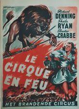 """""""LE CIRQUE EN FEU (CAGED FURY)"""" Affichette belge originale entoilée  Sheila RYAN"""