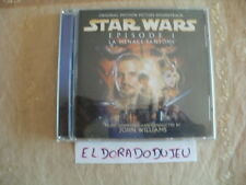ELDORADODUJEU > CD BOF ORIGINAL SOUNDTRACK STAR WARS EPIDODE 1 LA MENACE FANTÔME