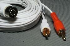 weiss 10m Kabel 7-polDIN-2xCinch für TV-Ton über Bang Olufsen AUX Buchse für B&O