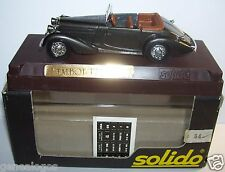 AGE D'OR SOLIDO OLD TALBOT T23 1937 GRIS FONCE METAL CABRIOLET 1/43 IN BOX