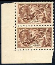 GB 1934 KGV 2/6d Brown (pair) Superb MNH SG 450 Cat £300