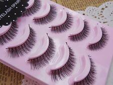Japan 5 pairs Magic Natural Cross False eyelashes Cute eye lashes NEW No.5
