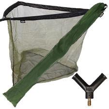 "36"" Green Carp Coarse Fishing Landing Net + Metal Spreader Block and Stink Bag"