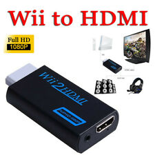 Wii to Hdmi Portable Full Hd 1080P Tv Converter Audio/Video Output Adapter Black