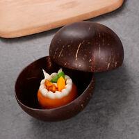Gadget Vintage Natural Coconut Shell Bowls Food Storage Fruit Bowl Tableware