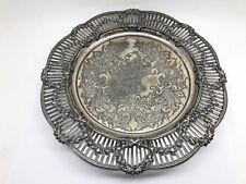 Meriden Silverplate Pierced Candy Dish With Lion Claw Feet