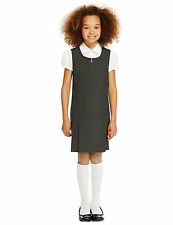 Girls SCHOOL UNIFORM Crease Resistant Pinafores GREY 6 YEARS  MARKS&SPENCER