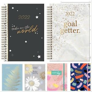 2022 A5 Week to View Wiro/ Soft /Hardback Cover Diary Year Case bound Planner