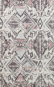 Abstract Modern Oriental Area Rug Wool And Silk Highlight Hand-Tufted Carpet 5x7