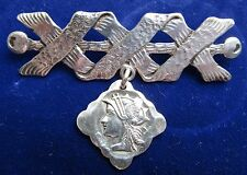 RARE Antique Frank M. Whiting Sterling Silver Medallion Brooch