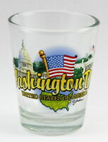 WASHINGTON DC STATE ELEMENTS SHOT GLASS SHOTGLASS