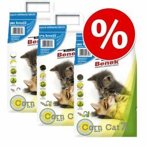 Super Benek Corn Cat Clumping Litter Economy Packs 3 x 7 Litres Multiple Scents
