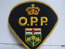 Vintage Canadian O.P.P.  Embroidered Woven Sew-On Badge