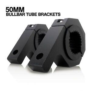 50mm Bull Bar Bracket LED Light Mount Pair