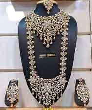 Indian Ethnic Wedding Bollywood Fashion Bridal Gold Plated 8 PCS Jewelry Set