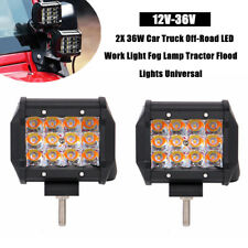 2PCS 12-36V 36W Car Truck Off-Road LED Work Light Fog Lamp Tractor Flood Lights