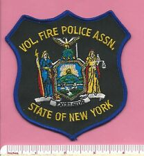 New York State NY Volunteer Fire Police Association Shoulder Patch