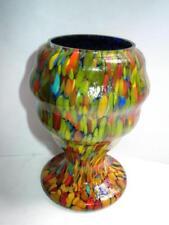 Czech/Bohemia Date-Lined Glass Vase Vintage Original