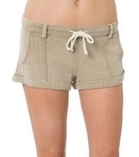 O'Neill Women Malina Beige Solid Dress Shorts Sz Small