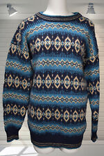 Vintage 1980s Oversized Wooly Jumper Fair Isle Nordic - BENETTON S M L