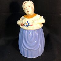 Vintage 1940's Pottery Guild of America - Hand Painted, Women Cookie Jar