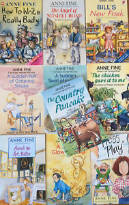 Anne Fine Children's 90's Book Set Bundle x 10 Books Inc Bill's New Frock