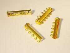 Magnetverschluss Magnetschließe Federringverschluss Metall gold 17 mm 2395