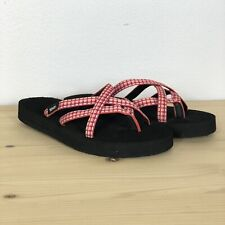 Teva Womens Size 7 Sandals Slides Flip Flops Olowahu Pink Purple Summer Strappy