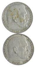 1939 1937 GERMAN WW2 NAZI 2 Mark Swastika Silver Coin - Germany War *452