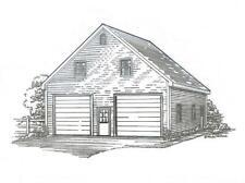 30 x 36 2 Stall FG Garage Building Plans w/Loft