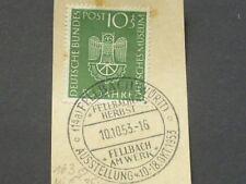 Bund Mi.Nr. 163 auf Briefstück mit Sonderstempel