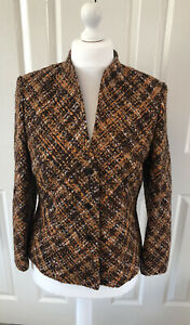 Ladies Tweed Blazer Jacket - UK Size 14 - 70s Style - Retro - Wool Blend - Lined