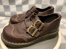 DR MARTEN Brown Closed Toe Double Strap Sandal Shoe Women's Size 7