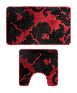 2 Pieces Microfiber Bathroom Bath Rug Pedestal Mat Soft & Durable Free Shipping