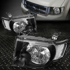 FOR 08-12 FORD ESCAPE BLACK HOUSING CLEAR CORNER HEADLIGHT REPLACEMENT HEADLAMP